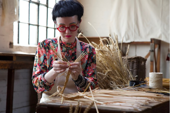 claire straw hat making