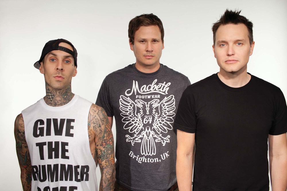 Old Lineup with Tom Delonge (pictured middle)