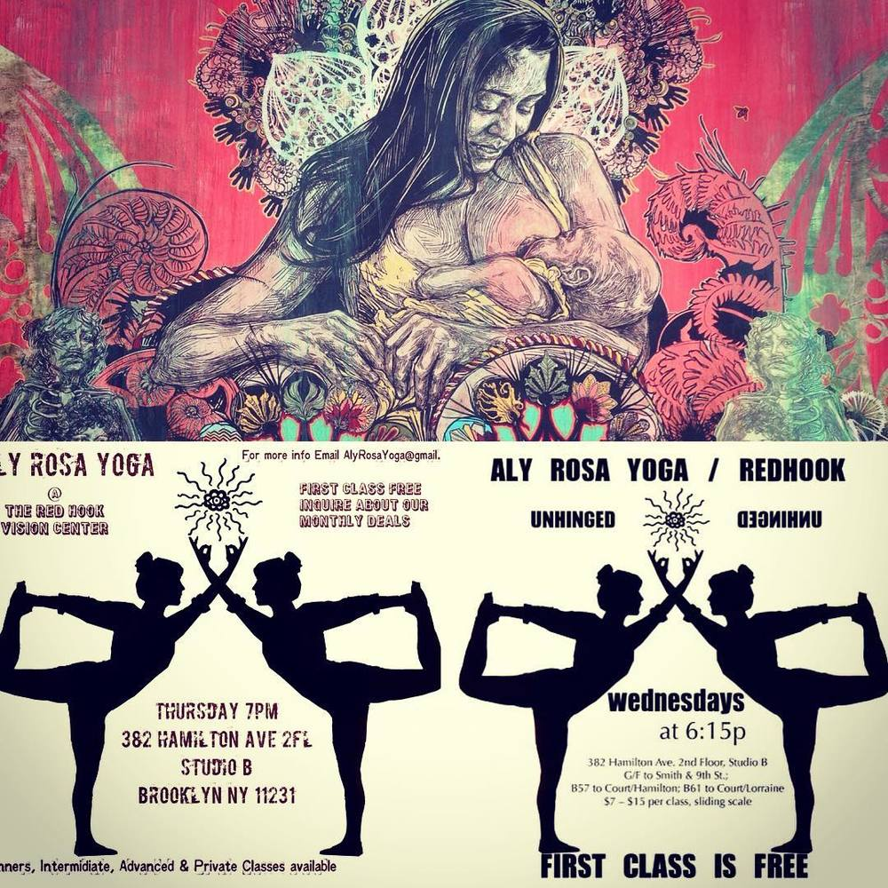 Happy International Women's Day!! Powerful, creative energy rules this week in Redhook. Vinyasa flow Wednesday at 6:15pm AND Thursday at 7:00pm, 382 Hamilton Ave.  #swoon #internationalwomensday #yogaforall #community #redhookbrooklyn #alyrosayoga #onelove  (at Red Hook, Brooklyn)