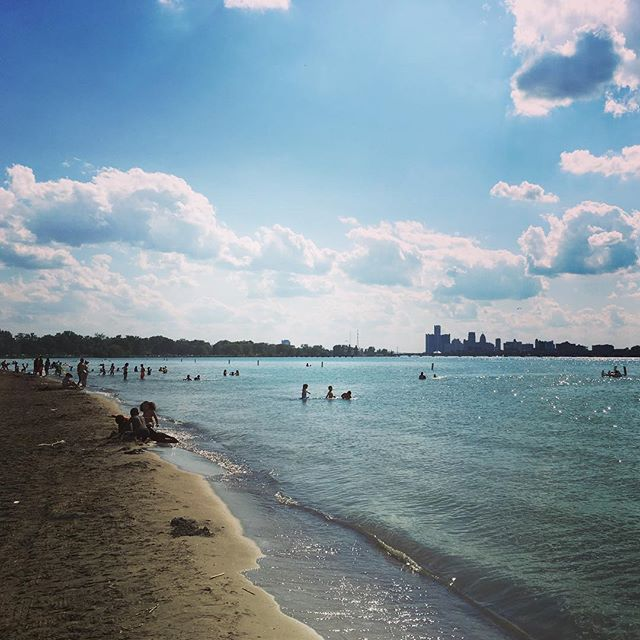 Memorial day on Belle Isle Beach#dipndivedetroit