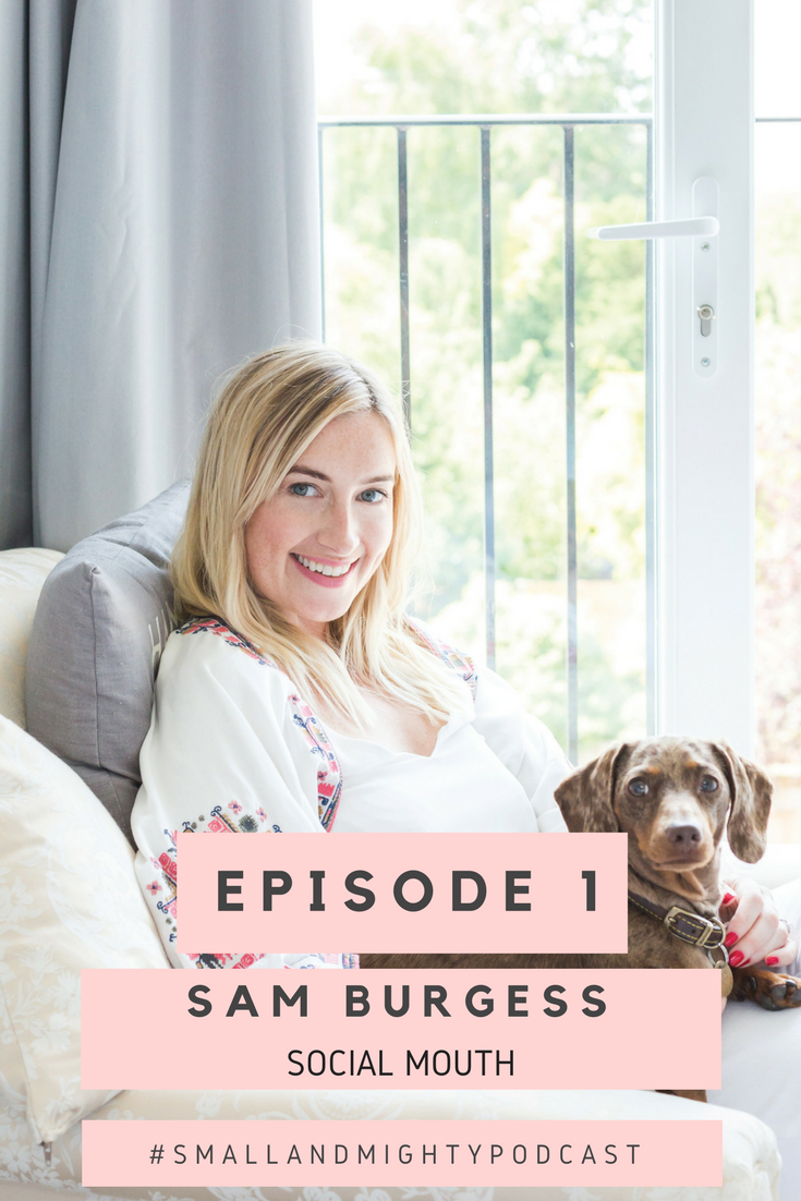 In episode one, I share my career journey and how I came to found Social Mouth Ltd. I talk about launching the Instagram for Business e-course, starting this podcast and my plans for the future.