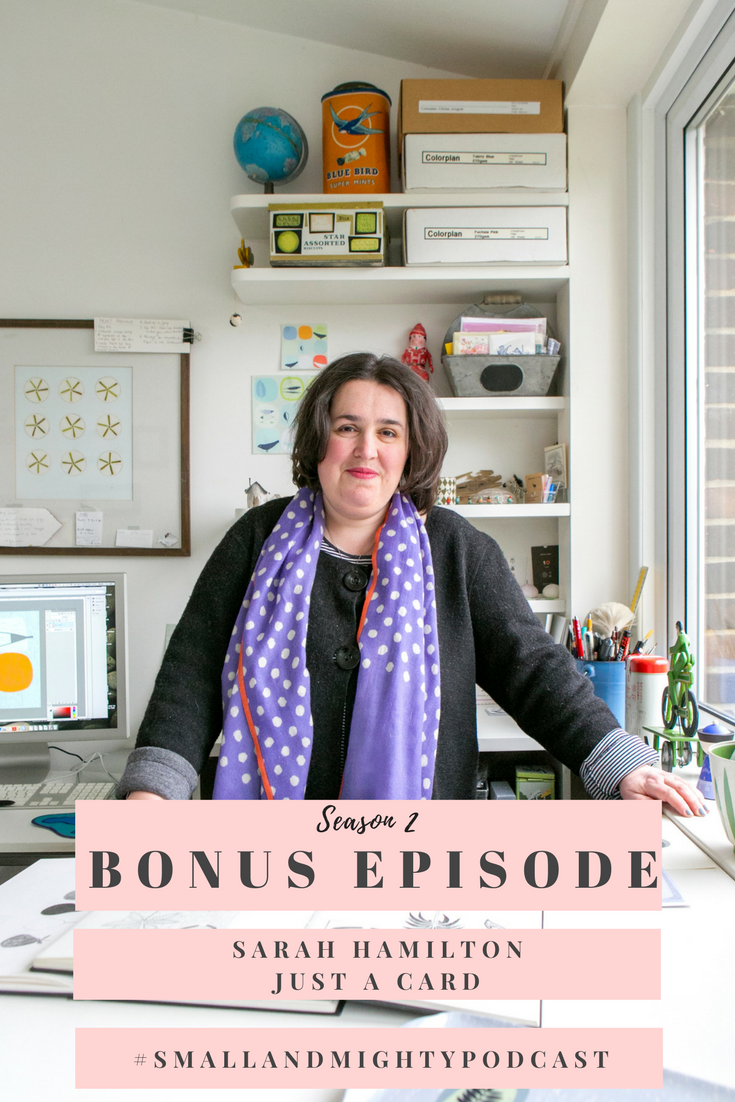 "In this bonus episode, I chat with Sarah Hamilton, founder of the JUST A CARD campaign which aims to encourage people to buy from Designer/Makers and Independent Galleries and Shops by reinforcing the message that all purchases, however small, even 'just a card' are so vital to the prosperity and survival of small businesses. This is a campaign and cause, so close to my heart - those who have listened to the first episode of Small and Mighty will know that I once worked for an Independent trader that didn't make it through the recession. With the constant threat of rising rates, Brexit and much more; our high streets remain a place of uncertainty. This episode is brought to you purely because of my passion for the creative independent industry and because if you do one thing this Christmas, please buy ""just a card"". Listen here: socialmouth.co.uk/smallandmightypodcast/justacard"