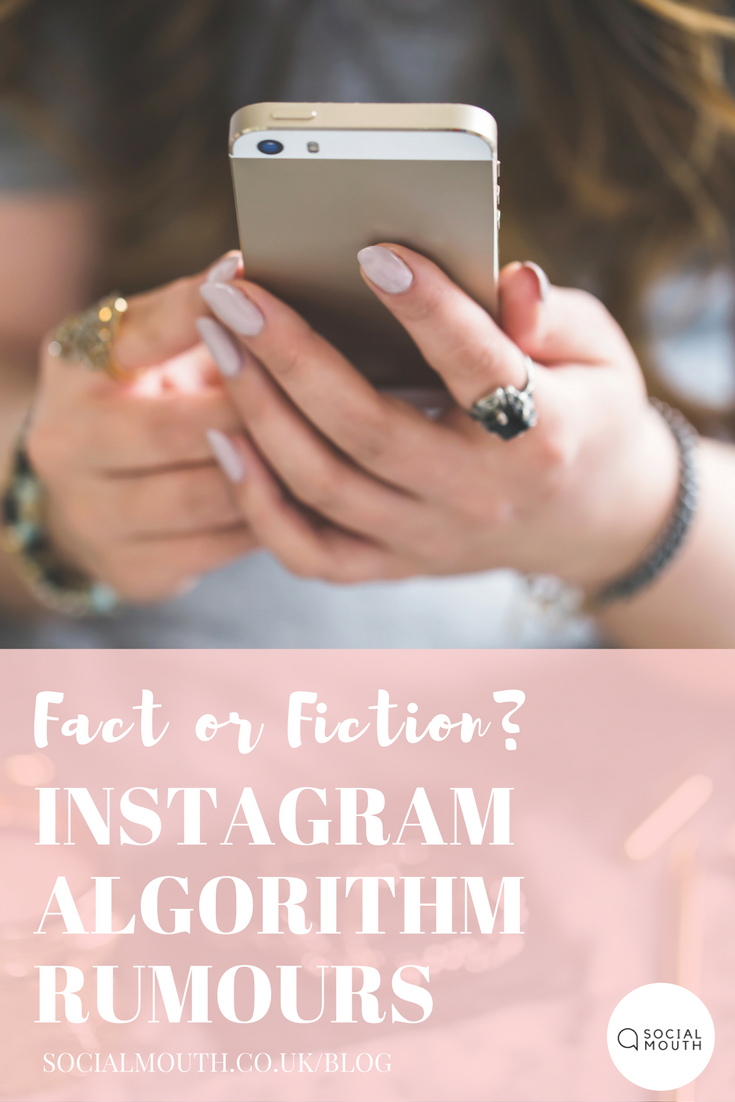 Everyone wants to know the secret to more followers and hire engagement on Instagram - I debunk the latest rumours for 2018! socialmouth.co.uk/blog/2018/1/19/instagram-rumours