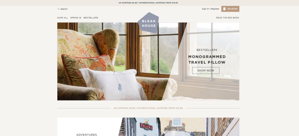 Bleak House is a beautiful online lifestyle store helping you to seek the adventure in everyday life.  Powered by Shopify.