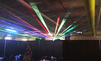 RGB Full Color Laser Beam Show