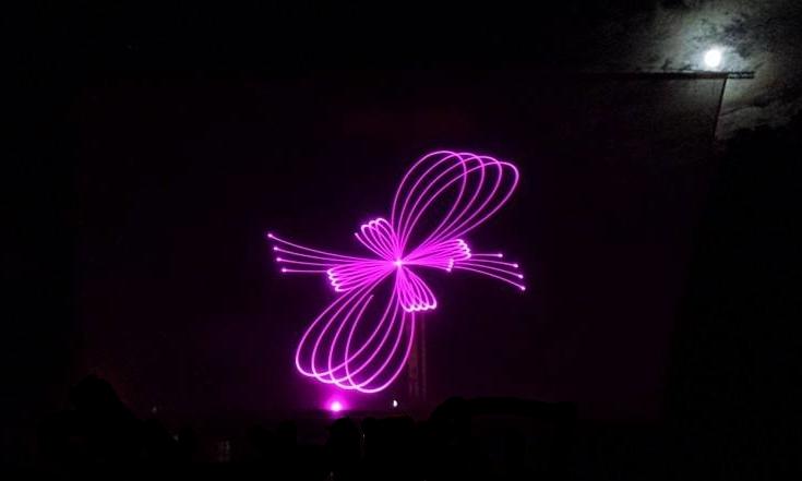 Outdoor Laser Pattern