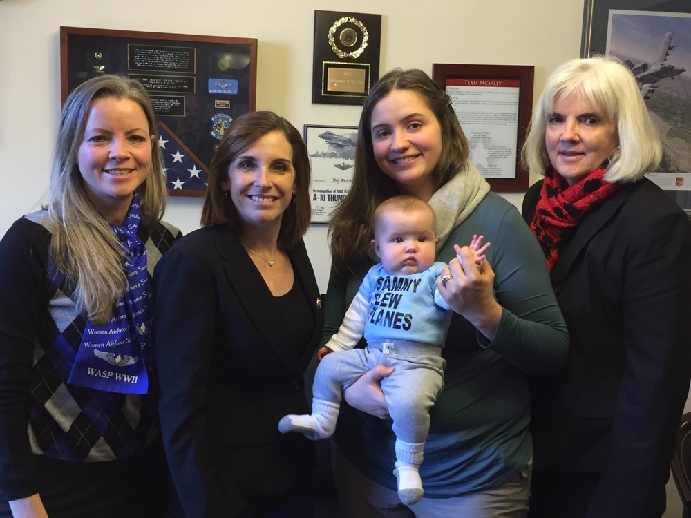 Erin and her family with Rep. McSally; photo courtesy of Erin Miller