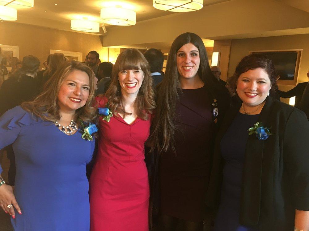 Delegate Elizabeth Guzman, Sarah, Delegate Danica Roem, and Beth
