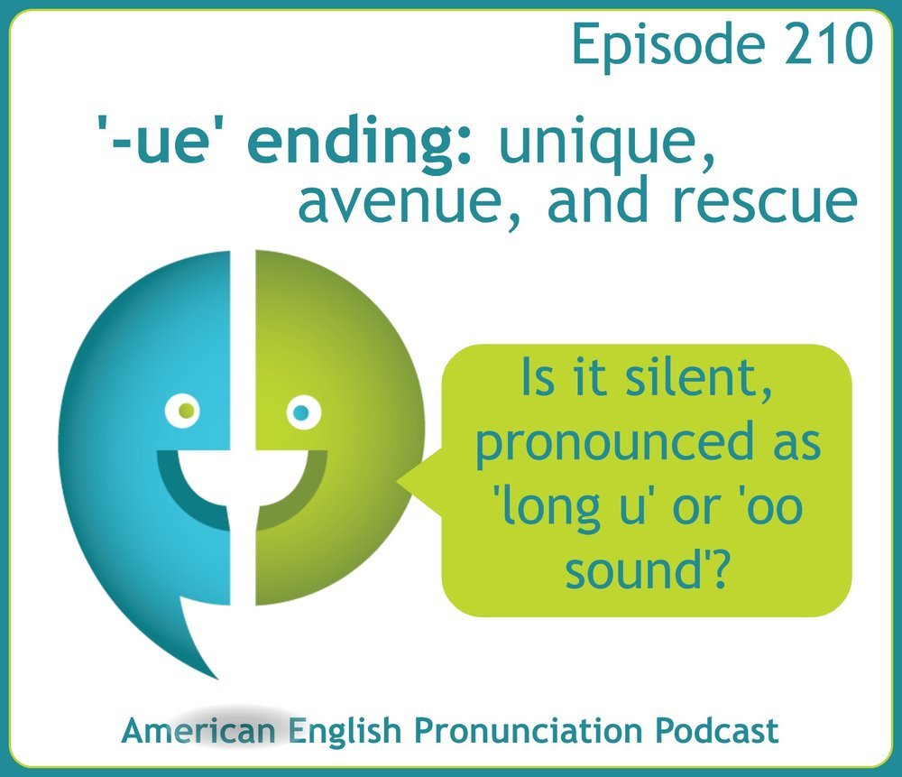 How do you pronounce the -ue ending in English?