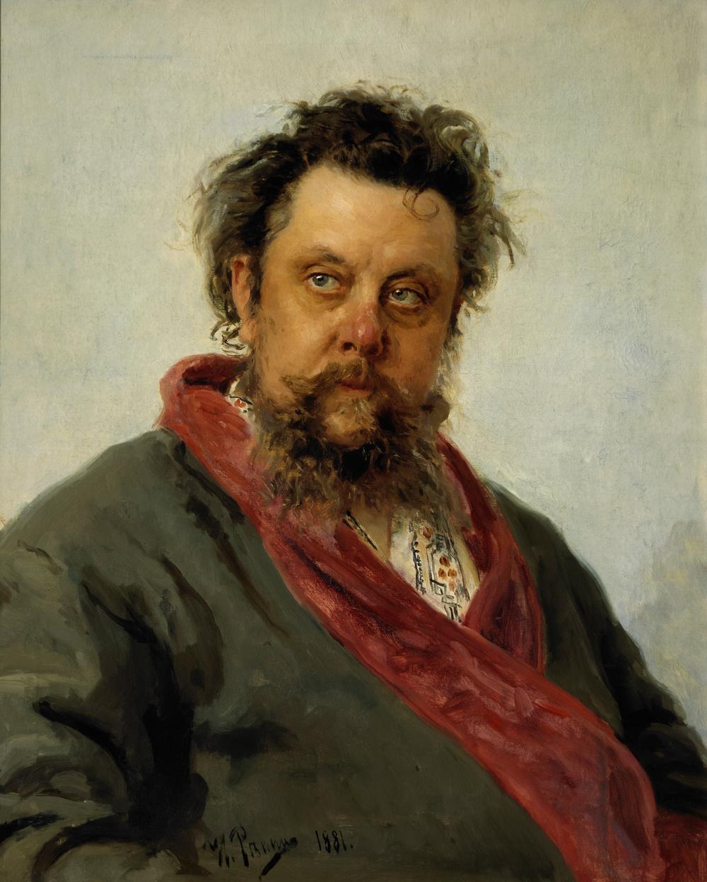 Modest Mussorgsky - Portrait by Ilya Repin