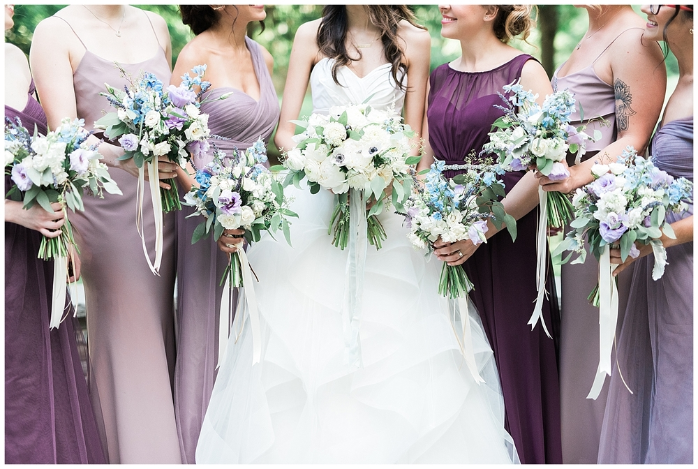 Guide to the Perfectly Mismatched Bridal Party •  Bella Bridesmaids Madison | Photo by Jennifer Larsen Photo