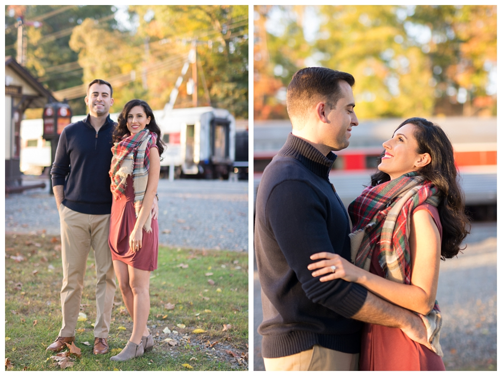 New Jersey Engagements | Whippany Railway Museum in Whippany, NJ | Real weddings, engagements and inspiration for the modern NJ Bride | www.redoakweddings.com