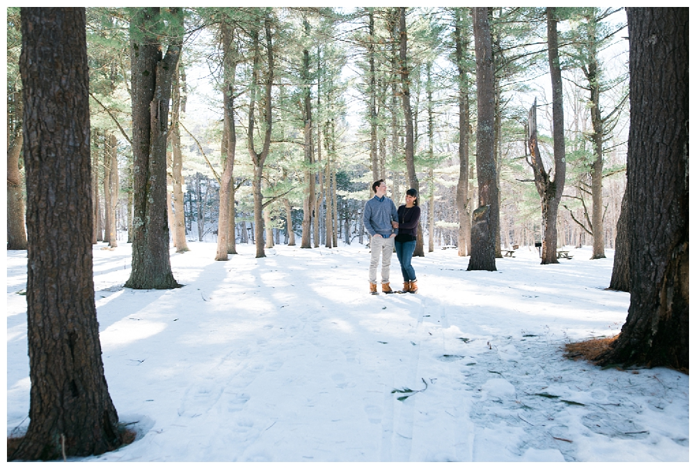 New York Engagement | Thatcher State Park, Albany NY  | Real weddings, engagements and inspiration for the modern NY Bride | www.redoakweddings.com