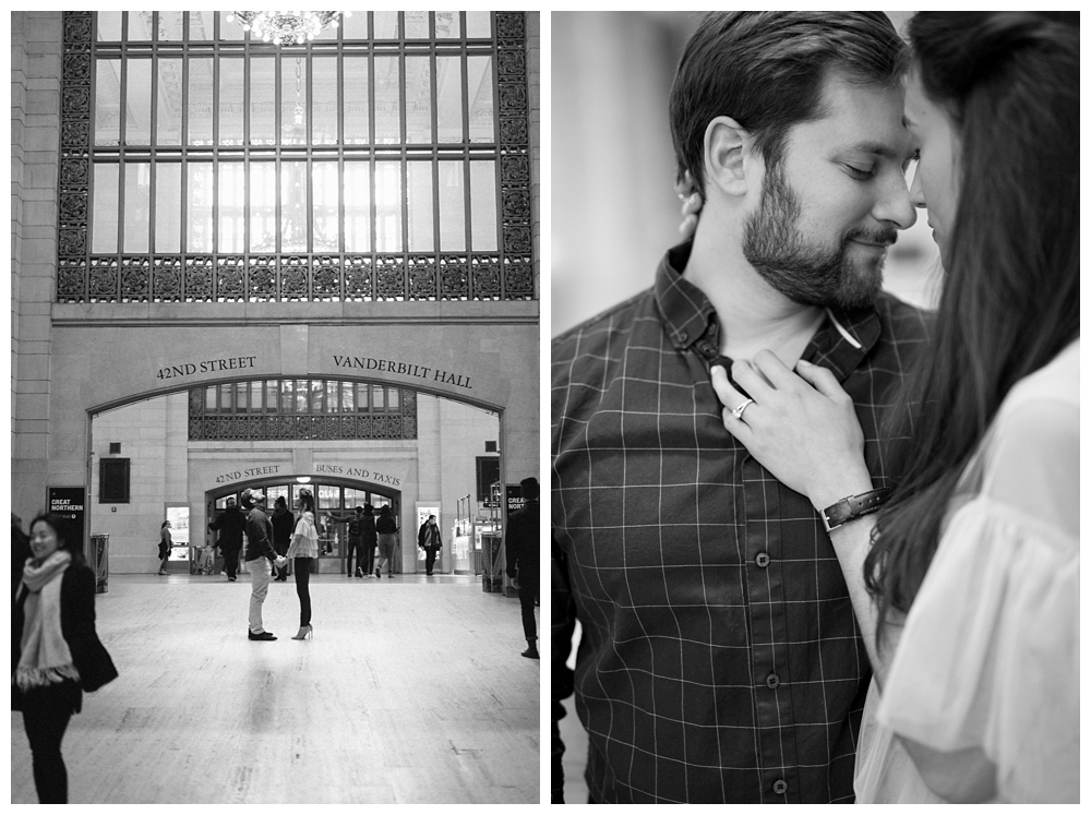 New York Engagements | New York, NY | Grand Central Station | Real weddings, engagements and inspiration for the modern NY Bride | www.redoakweddings.com