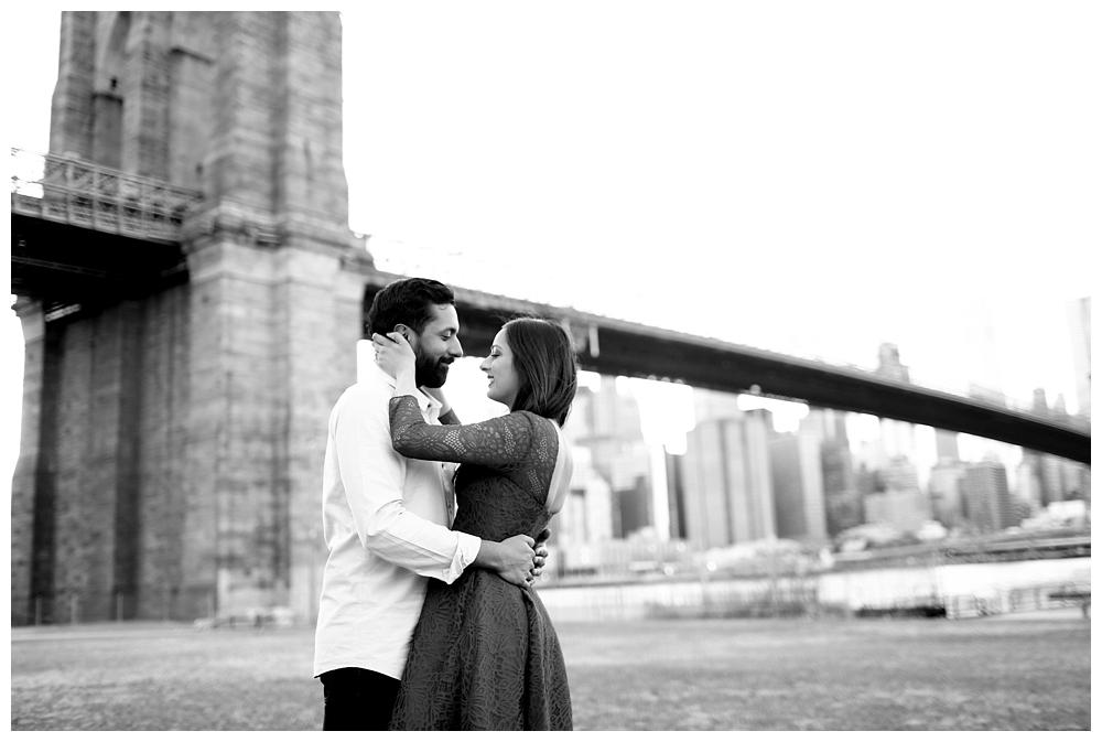 New York Engagements | NYC, Brooklyn Bridge + Times Square | www.redoakweddings.com