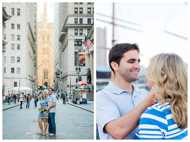 New York City Engagements | Battery Park + Lower Manhattan | www.redoakweddings.com