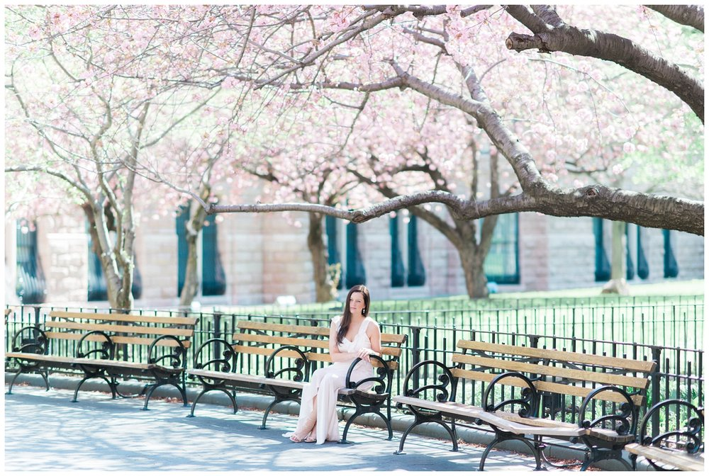 Central Park Cherry Blossom Portrait Session | New York City | Nicole DeTone Photography | www.redoakweddings.com