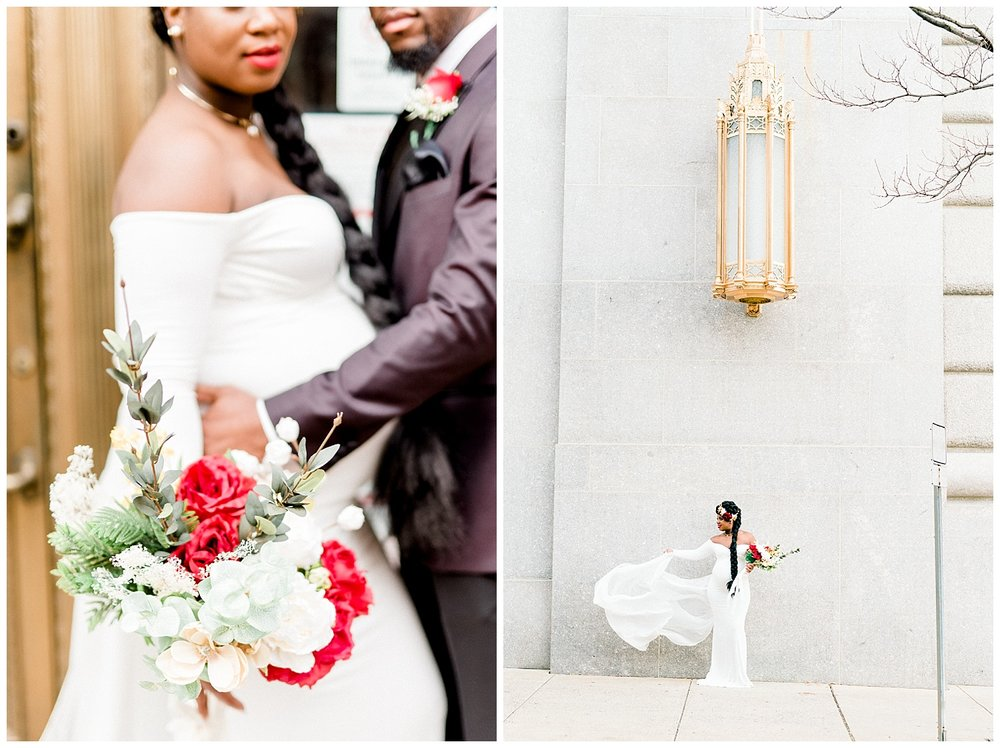 Chic Winter Courthouse Wedding In Berks County Haley Richter