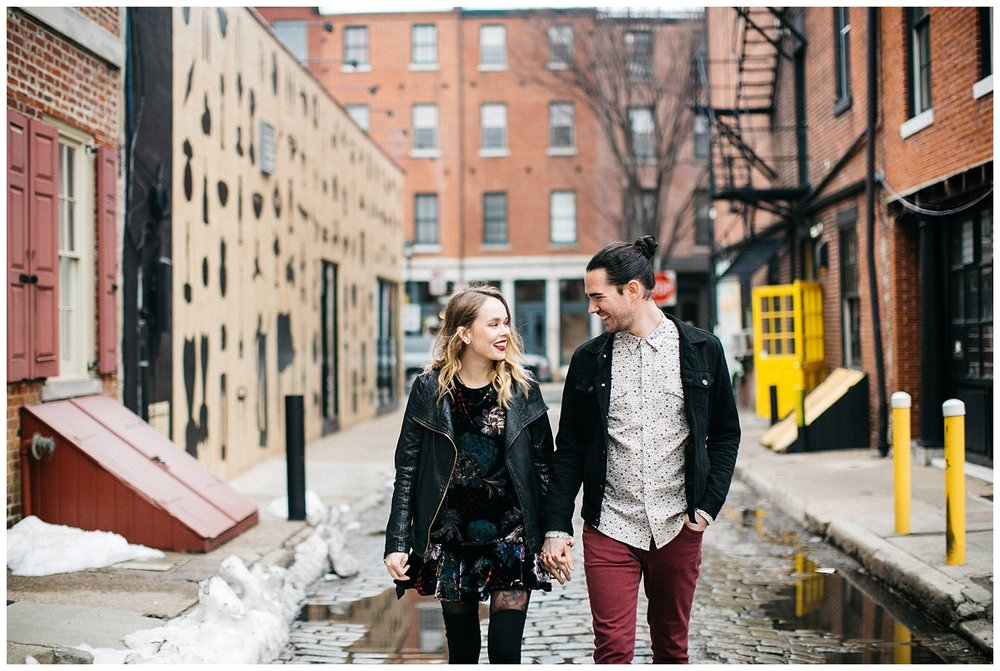Philadelphia Engagements | Lokal Hotel | Old City Philadelphia | www.redoakweddings.com