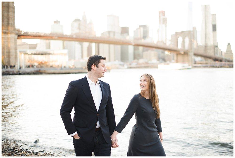 Brooklyn Engagement | Brooklyn Bridge Park | www.redoakweddings.com