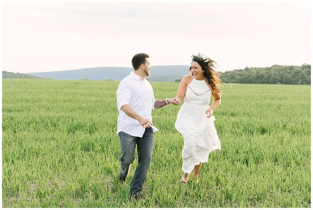 Hudson Valley TeePee Engagements | Ronny Brook Dairy Farm | Pine Plains, NY | www.redoakweddings.com