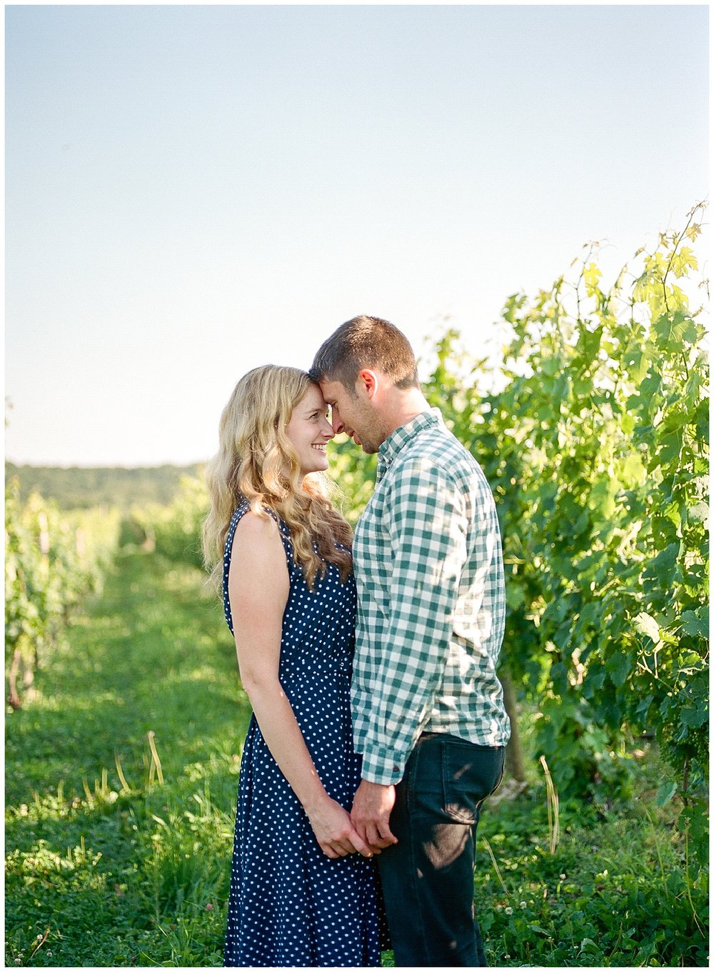 Hudson Valley Winery Engagement Session | Millbrook Vineyards + Winery | Millbrook, NY | www.redoakweddings.com