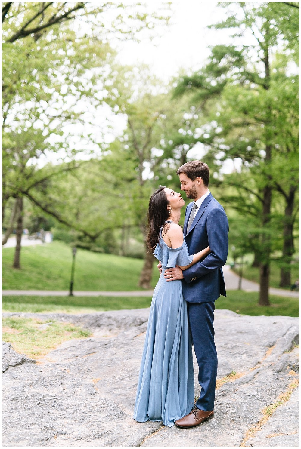 NYC Anniversary Session | Central Park and Belvedere Castle | New York City Anniversary | www.redoakweddings.com