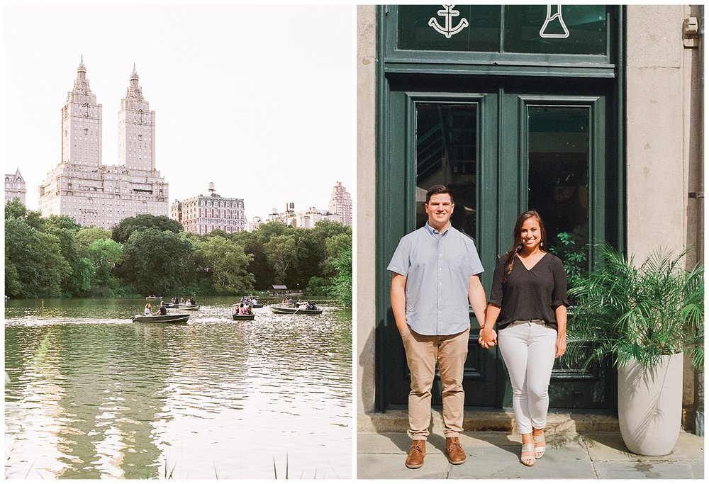 NYC Engagements | Central Park, Seaport District, & East Village New York Engagement Session | Manhattan Bride | www.redoakweddings.com