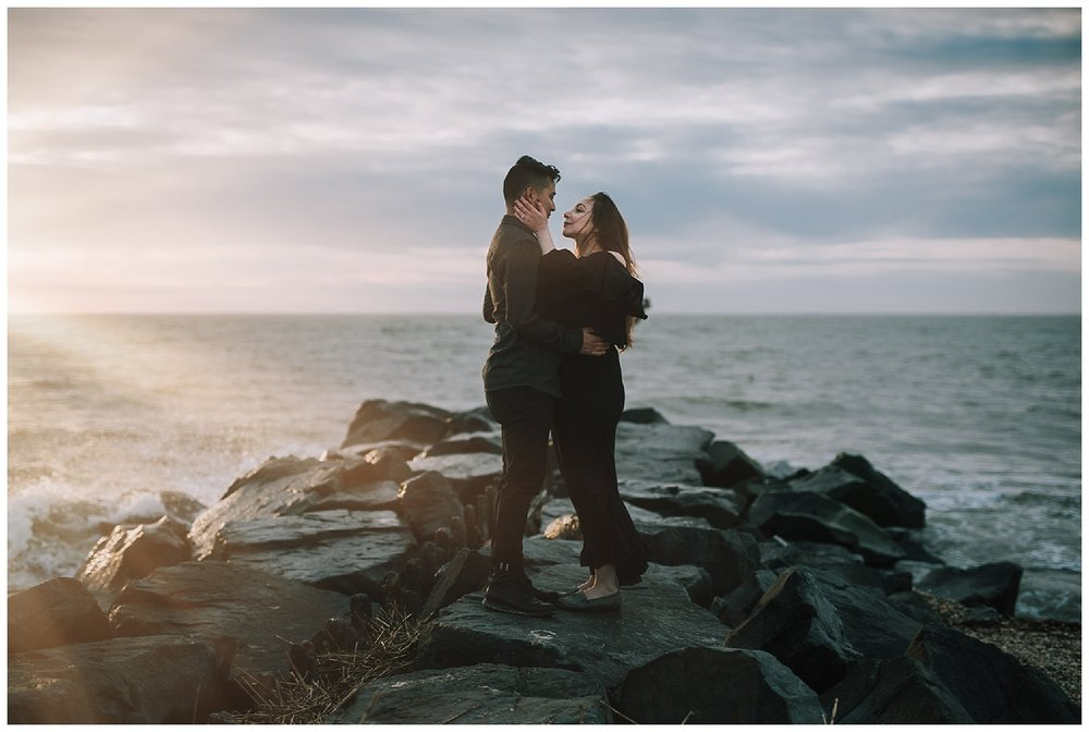 Cape May Engagements | Jersey Shore Engagement Session | www.redoakweddings.com
