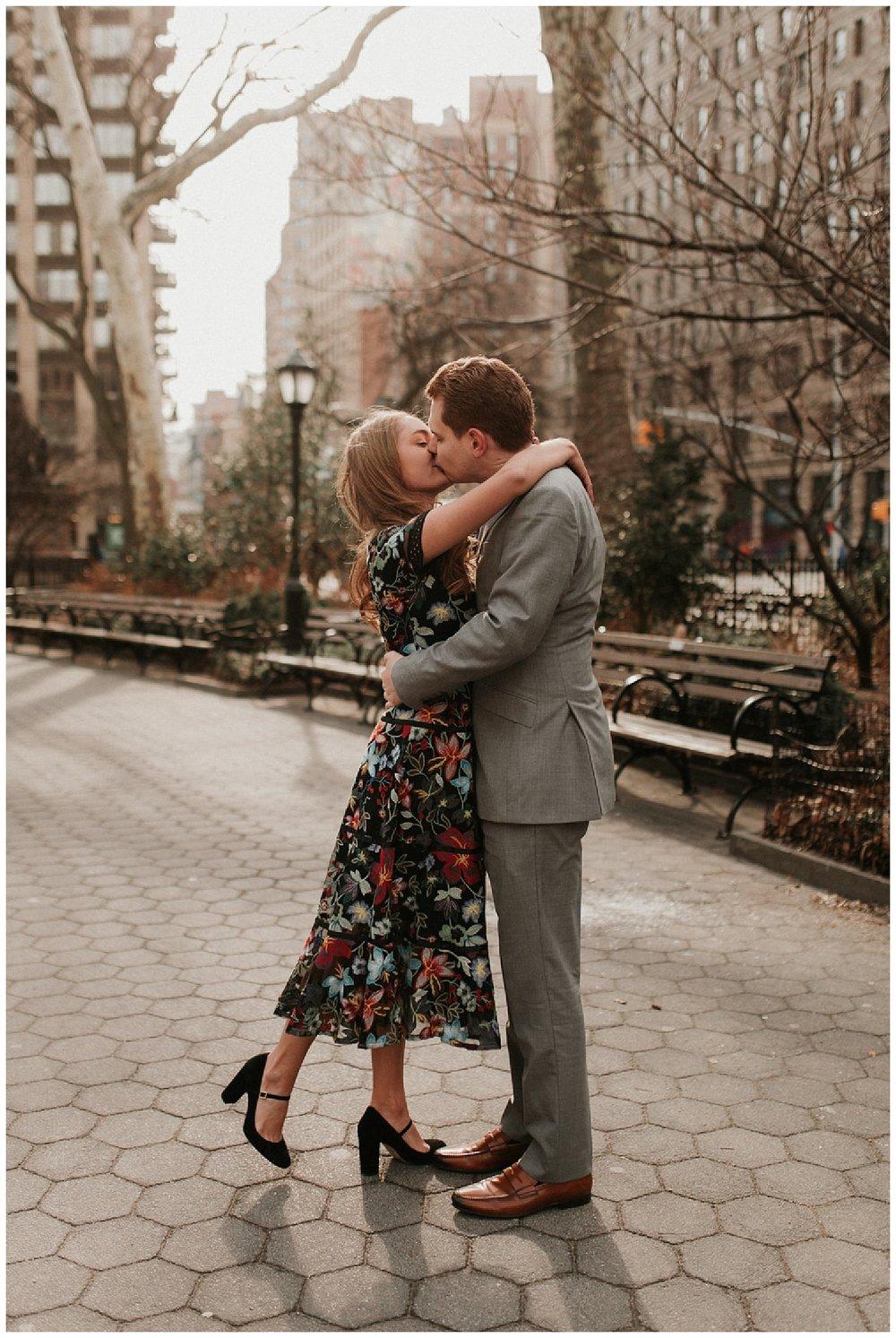 Winter Manhattan Engagement | New York City | NYC Weddings | www.redoakweddings.com