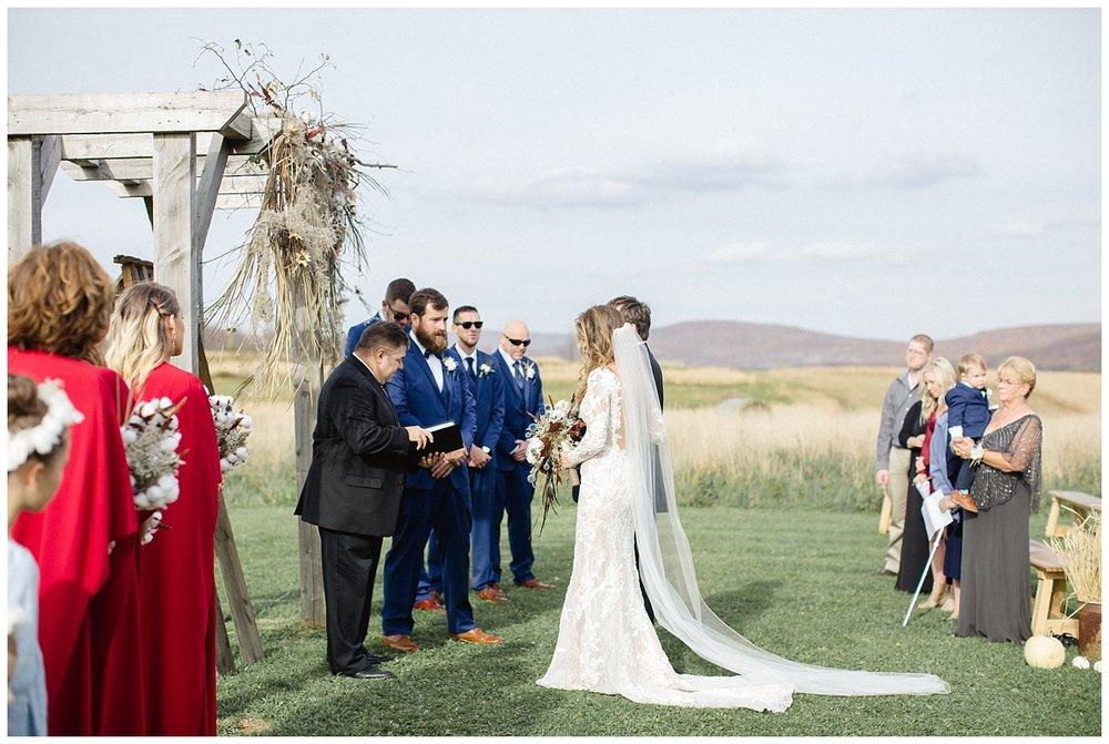 Fall Farm Wedding | The Farm at Cottrell Lake Wedding | Clifford, PA | www.redoakweddings.com