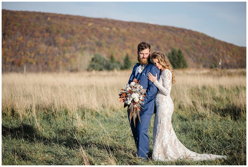 Rustic Modern Fall Wedding at The Farm at Cottrell Lake • Jordan DeNike Photography