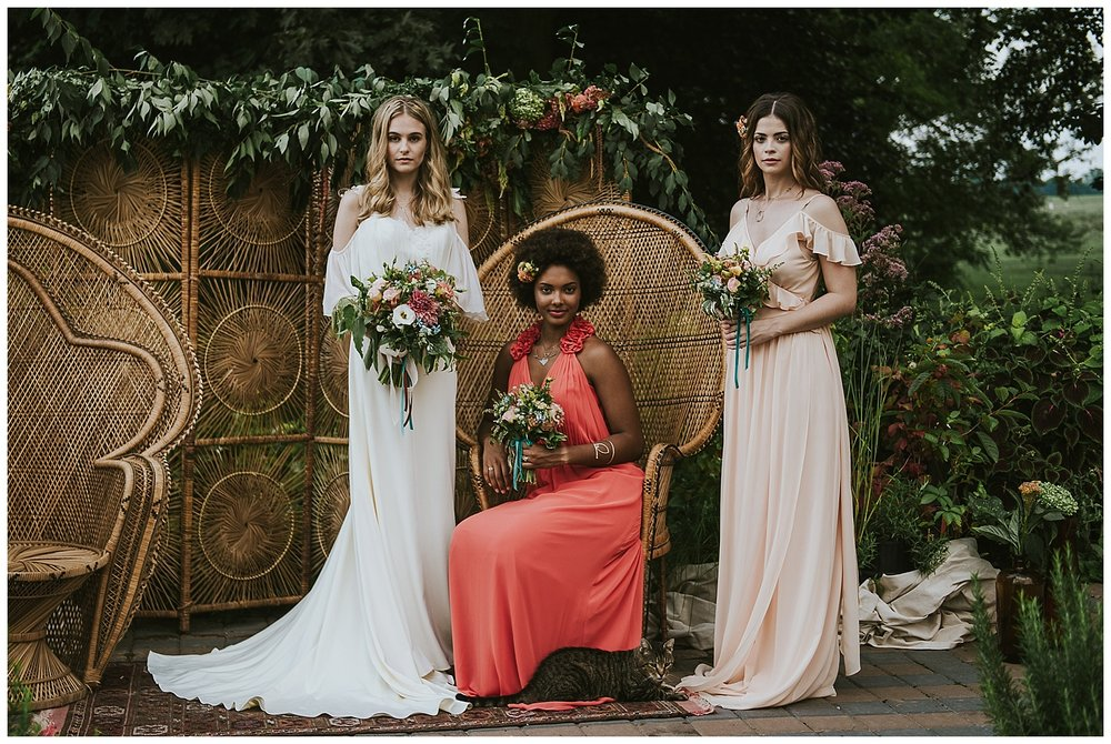 70's Boho Farm Wedding Inspiration at The Rodale Institute • Nina Lily Photography