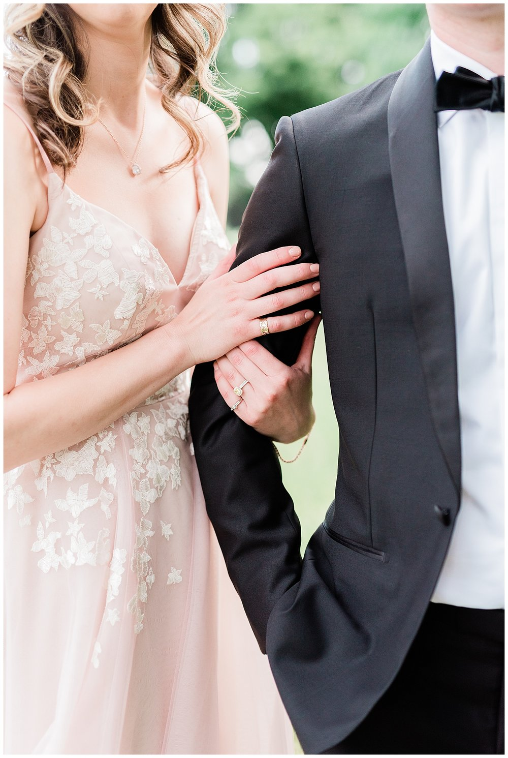 Upper Montclair Country Club Wedding | Pink Wedding Dress | Montclair, NJ | www.redoakweddings.com