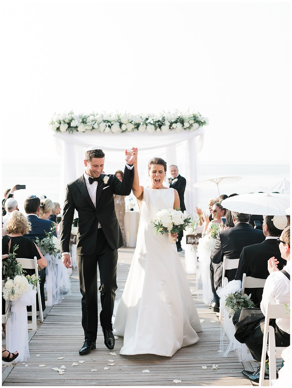 Crescent Beach Club Wedding | Black Tie Beach Wedding | Bayville, NY | www.redoakweddings.com