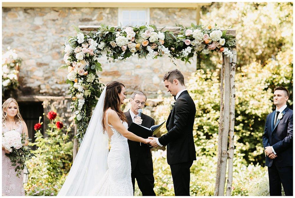 Romantic Garden Wedding | Crossed Keys Estate Wedding | Andover, NJ | www.redoakweddings.com