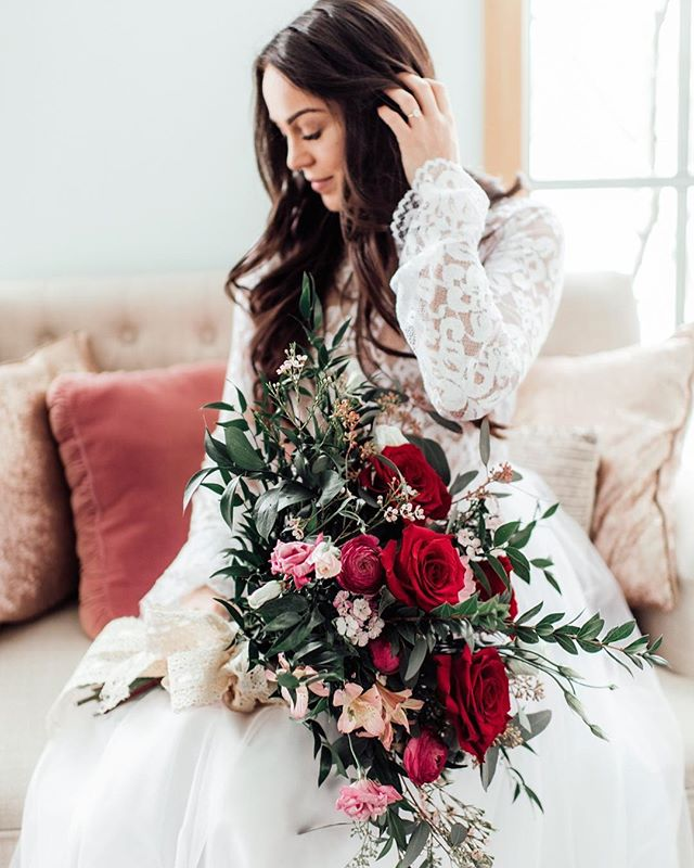 Today is LOVE day, and while we sometimes feel holidays like this one are a little silly, we can't help but swoon when we see a styled shoot like this one! This Romantic Valentine's Wedding Inspiration from Kimberly Schuldt at Pretty Little Vintage Co. is delicate, serene and oh-so lovely. From the deep floral color palette and gorgeous long-sleeve lace gown, to the vintage decor and sprinkle donuts, this entire is perfection. Perfect for a winter wedding or even a Galentine's celebration, this shoot is proof that all you really need is love (and a few pretty details)! . Photographer: @kimberlyshuldtphoto Venue + Rentals: @prettylittlevintageco Bakery: @belleofbuttercream Dresses: @blisstulle Florist: @designs_of_elegance Linens: @partycrushstudio . .  #redoakweddings #newjerseywedding #njwedding #njweddings #njbride #newyorkwedding #nywedding #nybride #hudsonvalleyweddings #pennsylvaniawedding #pawedding #njweddingvendors #nyweddingvendors #paweddingvendors #weddingwednesday #realwedding #risingtidesociety #weddingblogger #nyweddingplanner #nyweddingphotographer  #militarywedding  #upstatenyphotographer #upstatenyweddings #cooperstown #weddingblog #centralny #syracuseweddings #catskillweddings #valentinesdayinso #galentines