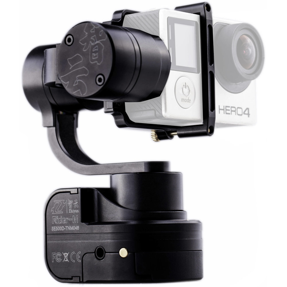 Zhiyun Rider M - This is the current Gimbal I use to get great footage. I've tried a few gimbals and this one is far from perfect but it's the best solution for the time being. It's reasonably priced, fairly reliable, quiet, and gets really good footage.