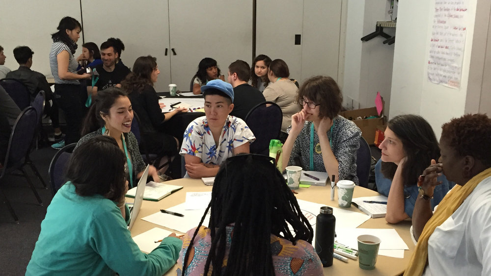 Workshop participants defining Design Justice