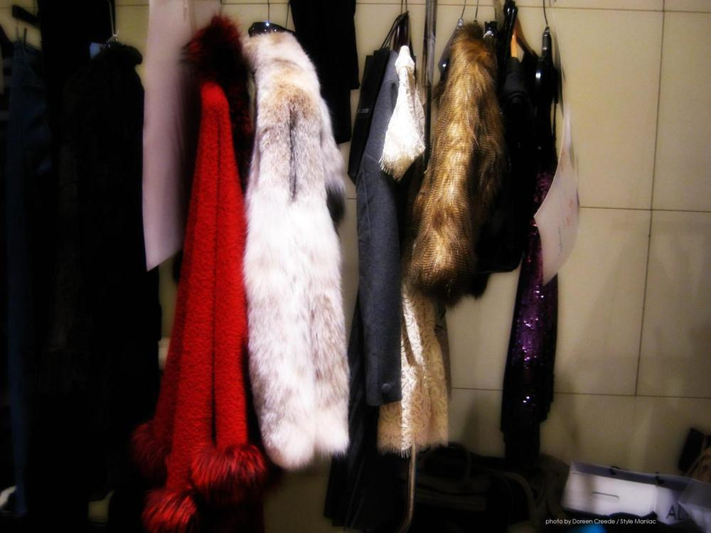 Furs, Lace & Sequins  backstage Phashion Phest 2011 photo by Doreen Creede / Style Maniac   From my coverage of Philadelphia's Fall fashion collections. Browse more fashion posts on the Style Maniac blog:  Fashion.