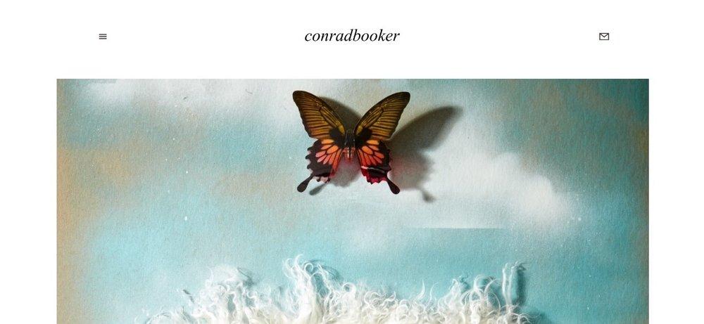 conradbooker.com screenshot design by doreen creede