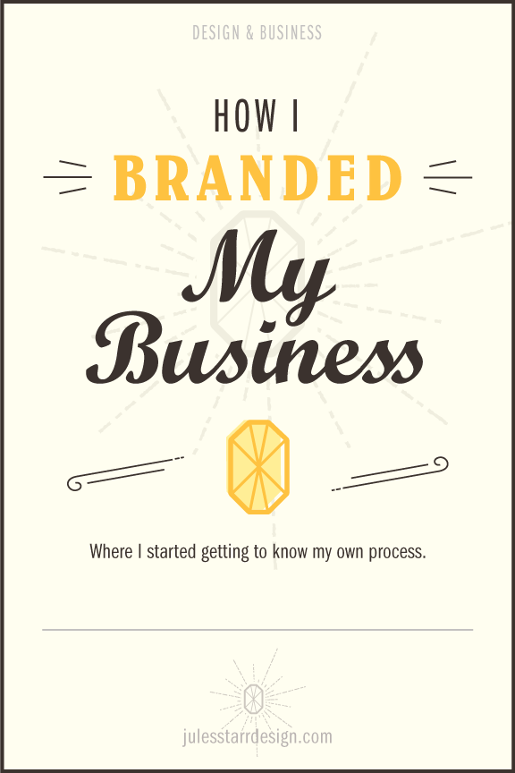 How I Branded My Business