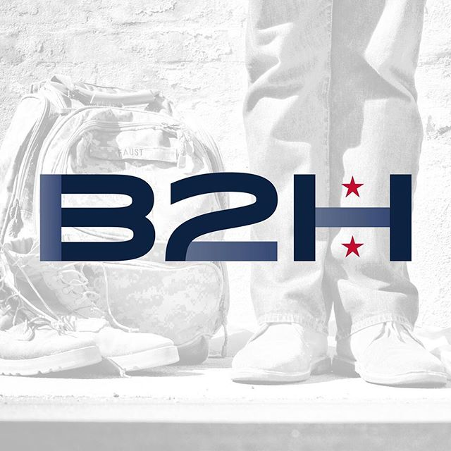 B2H: Owned & run by military veterans, B2H brings medical technology to those who serve & have served. . We wanted to create a streamlined logo with a bold punch. The overall shapes and forms played with were inspired by differing military awards to create a sleek, modern mark.
