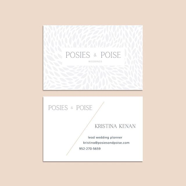 Bright, Light & Romantic 💍 . We love these beautiful business cards for our dear friends over at @posiesandpoise. For all my bride friends, they are the most AMAZING wedding planners and day of coordinators. We had so much fun wrapping up all the intricacies that reiterates how detail minded they really are. Work done in collaboration with @revelbeauties