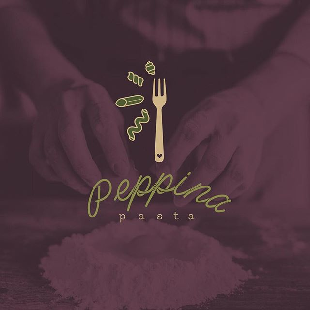 One iteration for my amazing client, Peppina Pasta 🍝 . I met LauraLee at my friends wedding. In the world of freelance it is honestly true you have no clue where your next job is going to come from, but I am so overjoyed I met her. LauraLee came to create Peppina- named after her beautiful Italian grandmother, after years of making pasta with her & her mother on Sundays. LauraLee continues to make pasta on Sundays in their honor, giving it away to friends & family as a way of remembering & honoring where she came from. #familytraditions