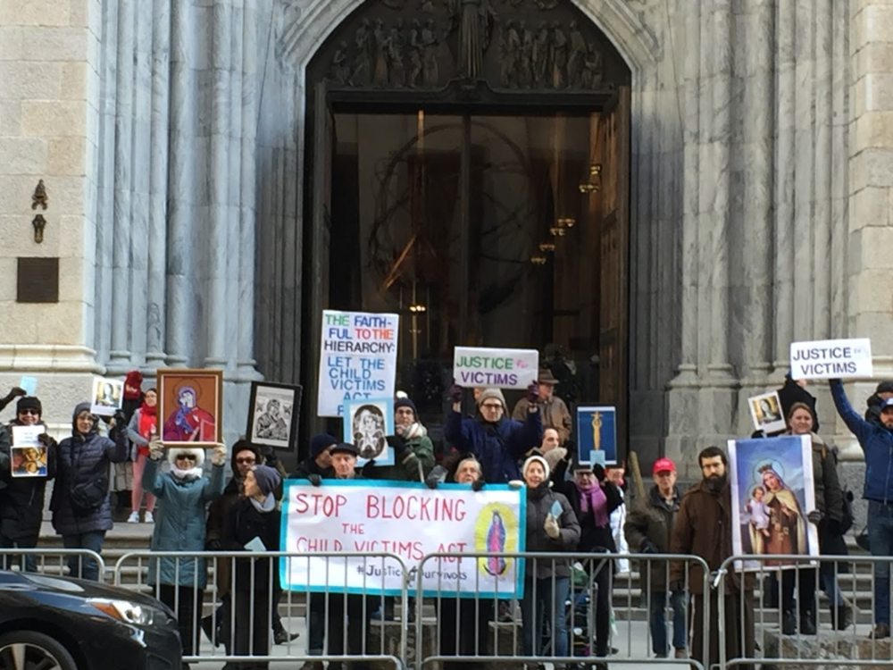 CVA Vigil in front of St. Patrick's Cathedral
