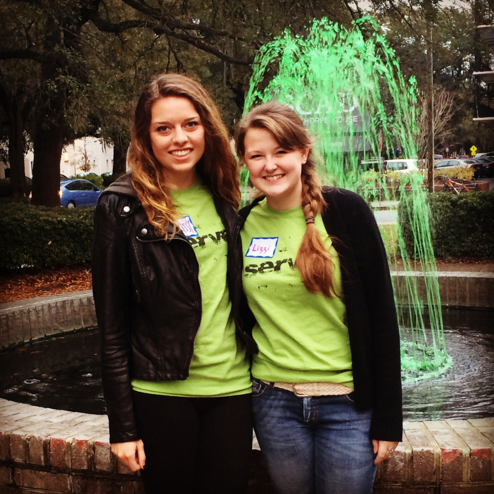 Savannah has already begun prepping for St. Patrick's Day by dying its fountains green!
