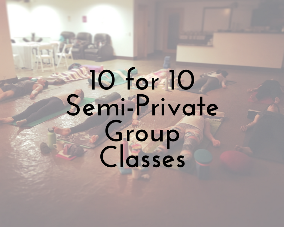 "- 10 weeks semi-private group classes for up to 10 people at your location: $2,250 (must be the same people attending each week)Includes ☀10 weekly lessons — 1.5 hours each, in-person on location☀Personalized instruction for your group with special support for each individual — choose between customizable styles of yoga: Vinyasa Flow — gentle/intensive, Ashtanga Primary Series/Modified Primary Series/Mixed Series, Restorative, Therapeutic (all guidance given for any style includes detailed alignment cues and options for modifications, time for meditation/contemplation and relaxation)☀All yoga props necessary for practice and comfort during lessons☀10 week free access to the Magareeshi ""members-only"" audio classes site so you can practice with ease between lessons* for each member of your group☀1-Time Discounted rate for a Seasonal Yoga Retreat Day within 1 year of lessons for each member of your group☀1 Magareeshi Tea (your choice of flavor, gifted at the first lesson)"