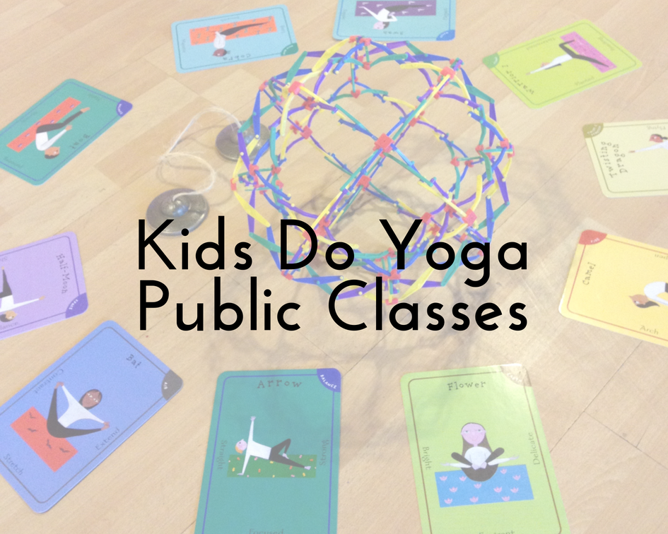 class descriptions... - A wide range of joyful, inspiring classes offered on a session basis (8/10 weeks each).  The fee for each KDY public class is listed per session, per participant.  There must be 8 participants in a class for it to run.20% off sibling discounts available for siblings enrolled during the same session.BRING THE BABY 1™ (ages 3-10/12 months)BRING THE BABY 2™ (ages 10/12-17 months) -- 60 minutes/8 weeks, $160In this lively and joyful class, parents/caregivers come together with their baby to share the peaceful beauty and healthful benefits of yoga.  Creative sequences incorporate the babies into the postures we explore.  We offer insights to guide parents/caregivers on ways to practice with their baby at home, too!TOT POWER™ (ages 18-36 months) -- 30 minutes/10 weeks, $120A playful yoga practice for toddlers with the help of their parents/caregivers is taught in a developmentally appropriate manner to aid in the ever-growing exploration of our littlest yogis' amazing bodies.  Class includes simple lessons, songs and activities about joy, having fun, kindness and centering one's self.KID POWER 1™ (ages 3-5 years)KID POWER 2™ (ages 6-8 years) -- 40 minutes/10 weeks, $130Fun, creative yoga sequences directed at the appropriate level for the boys and girls in these classes are interwoven with simple lessons, songs and activities about health, courage, kindness and compassion.'TWEEN POWER™ (ages 9-12 years) -- 45 minutes/8 weeks, $140We weave positive affirmations into the postures to help encourage kids to trust their inner voice and work together while boosting brain-power, kindness and compassion.  By using creative sequences and games, we captivate the imagination of this age group.TEEN POWER™ (ages 13-15 years) -- 60 minutes/8 weeks, $150Made up of flowing sequences that will build and tone muscles, enhance balance, increase stamina and boost brain power, these classes inspire high self-esteem, having fun, inner strength, empowerment, community connection, kindness and compassion.YOGACTIVITES™Additional experiences beyond the exploration of yoga solely through the body.  Yogactivities include fun meditations, age-appropriate chanting, story telling and acting out, inspirational arts and crafts, and more!  These are blended into classes and sometimes offered as take-home activities.