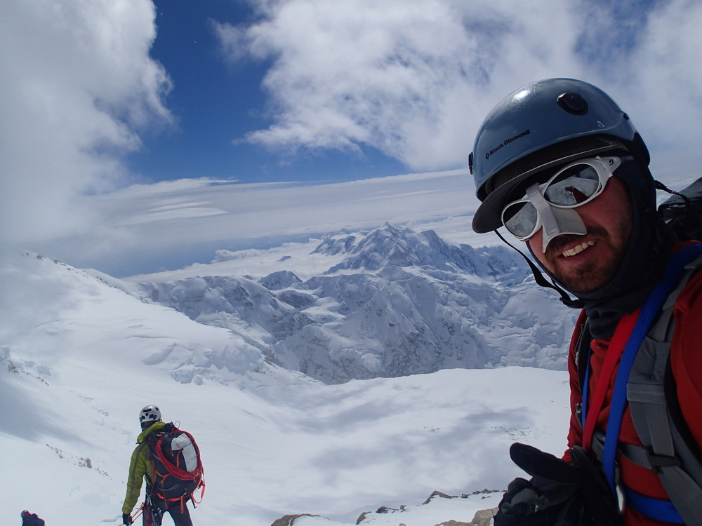 View from the top of the headwall with Mt. Foraker in the background